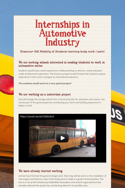 Internships in Automotive Industry