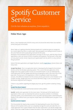 Spotify Customer Service