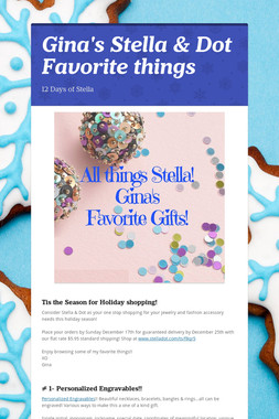 Gina's Stella & Dot Favorite things