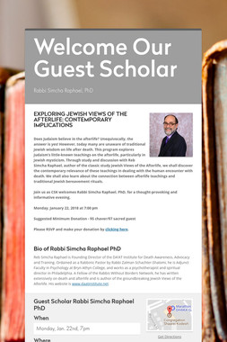 Welcome Our Guest Scholar