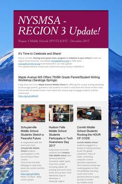 NYSMSA - REGION 3 Update!
