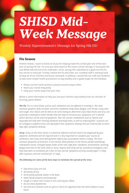SHISD Mid-Week Message