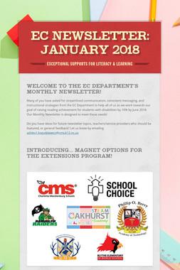 EC Newsletter: January 2018