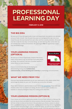 Professional Learning Day
