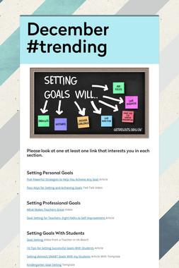 December #trending