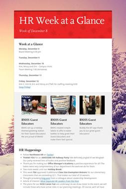 HR Week at a Glance