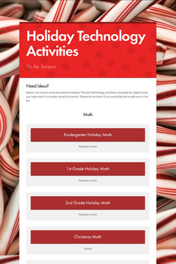 Holiday Technology Activities