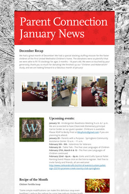 Parent Connection January News