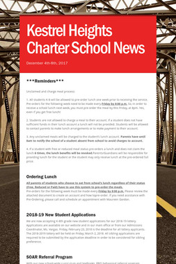 Kestrel Heights Charter School News