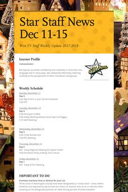 Star Staff News   Dec 11-15