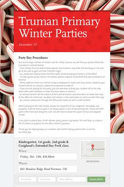 Truman Primary Winter Parties