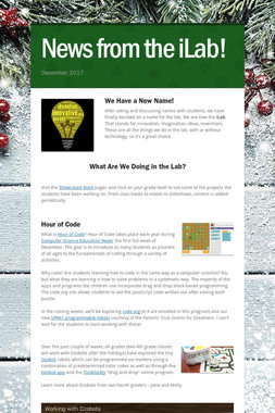 News from the iLab!