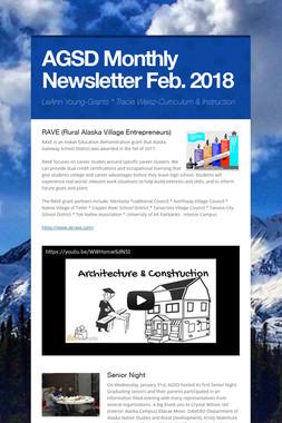AGSD Monthly Newsletter Feb. 2018