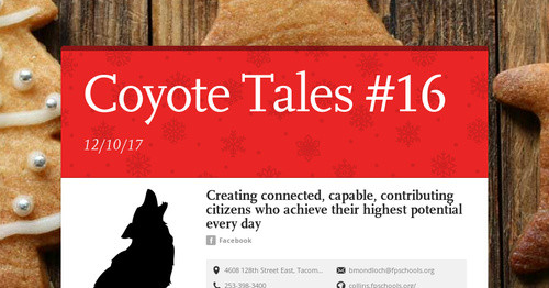 Coyote Tales #16   Smore Newsletters for Education