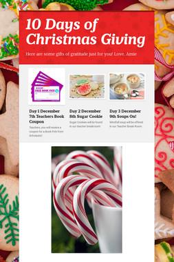 10 Days of Christmas Giving