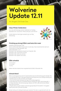 Wolverine Update 12.11
