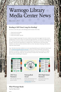 Wamogo Library Media Center News