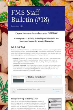 FMS Staff Bulletin (#18)