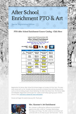 After School Enrichment PTO & Art