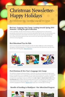 Christmas Newsletter-Happy Holidays