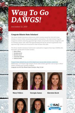 Way To Go DAWGS!