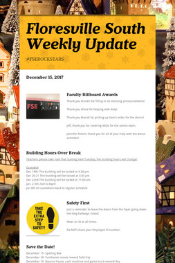 Floresville South Weekly Update