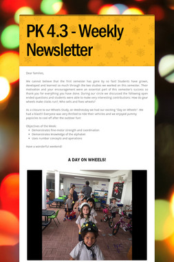 PK 4.3 - Weekly Newsletter