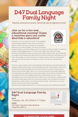 D47 Dual Language Family Night