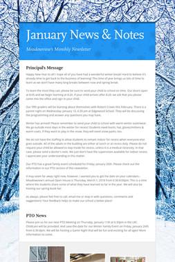 January News & Notes