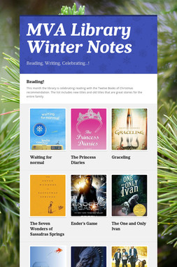 MVA Library Winter Notes