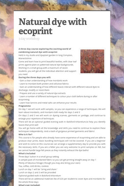 Natural dye with ecoprint