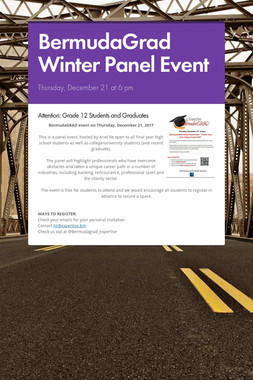 BermudaGrad Winter Panel Event