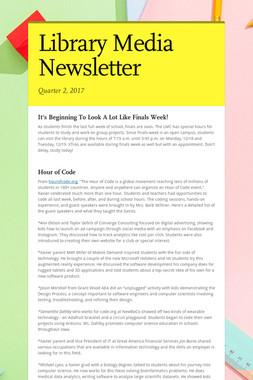 Library Media Newsletter