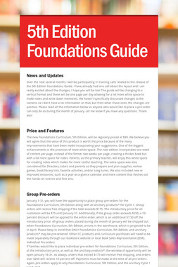 5th Edition Foundations Guide