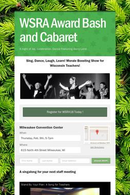 WSRA Award Bash and Cabaret