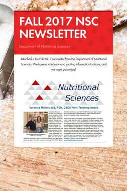 FALL 2017 NSC NEWSLETTER