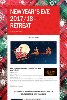 NEW YEAR'S EVE 2017/18 - RETREAT