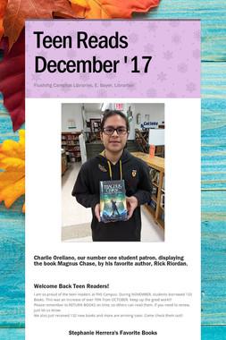 Teen Reads  December '17