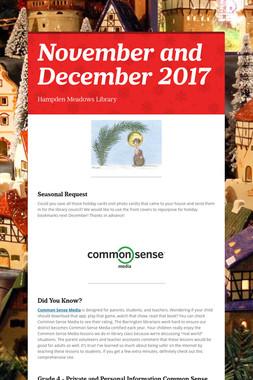 November and December 2017