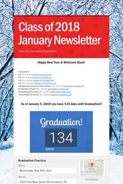 Class of 2018 January Newsletter