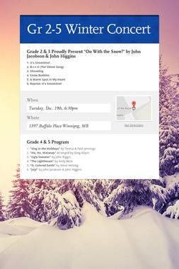 Gr 2-5 Winter Concert