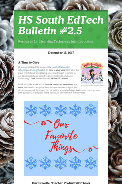 HS South EdTech Bulletin #2.5