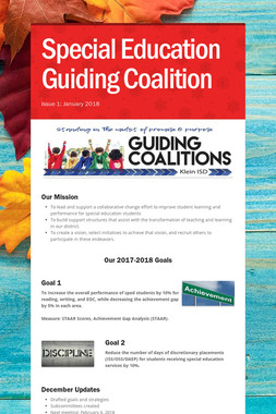 Special Education Guiding Coalition