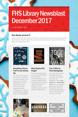 FHS Library Newsblast December 2017