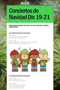 Conciertos de Navidad Dic 19-21
