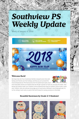 Southview PS Weekly Update