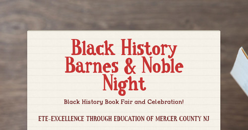 Black History Barnes & Noble Night | Smore Newsletters