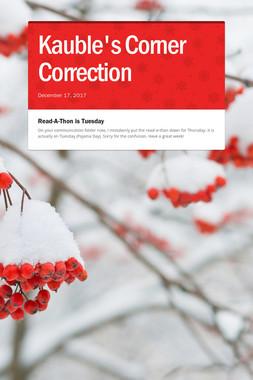 Kauble's Corner Correction