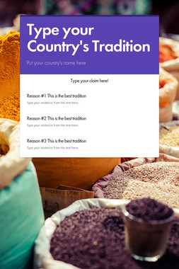 Type your Country's Tradition