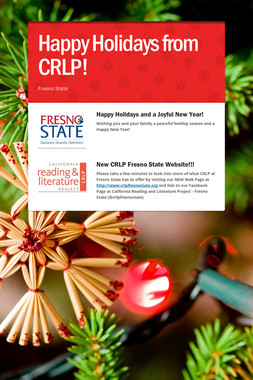 Happy Holidays from CRLP!